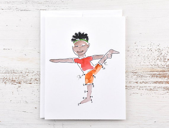 Dot to Dot Yoga Kids Cards- Lord of the Dance Kids Yoga Party Yoga Lover Kids Yoga Kids Yoga Party Invitation Yoga