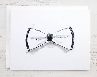 White Bow Tie Note Card