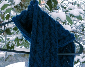 Two Cabled Knit Scarf Patterns PDF