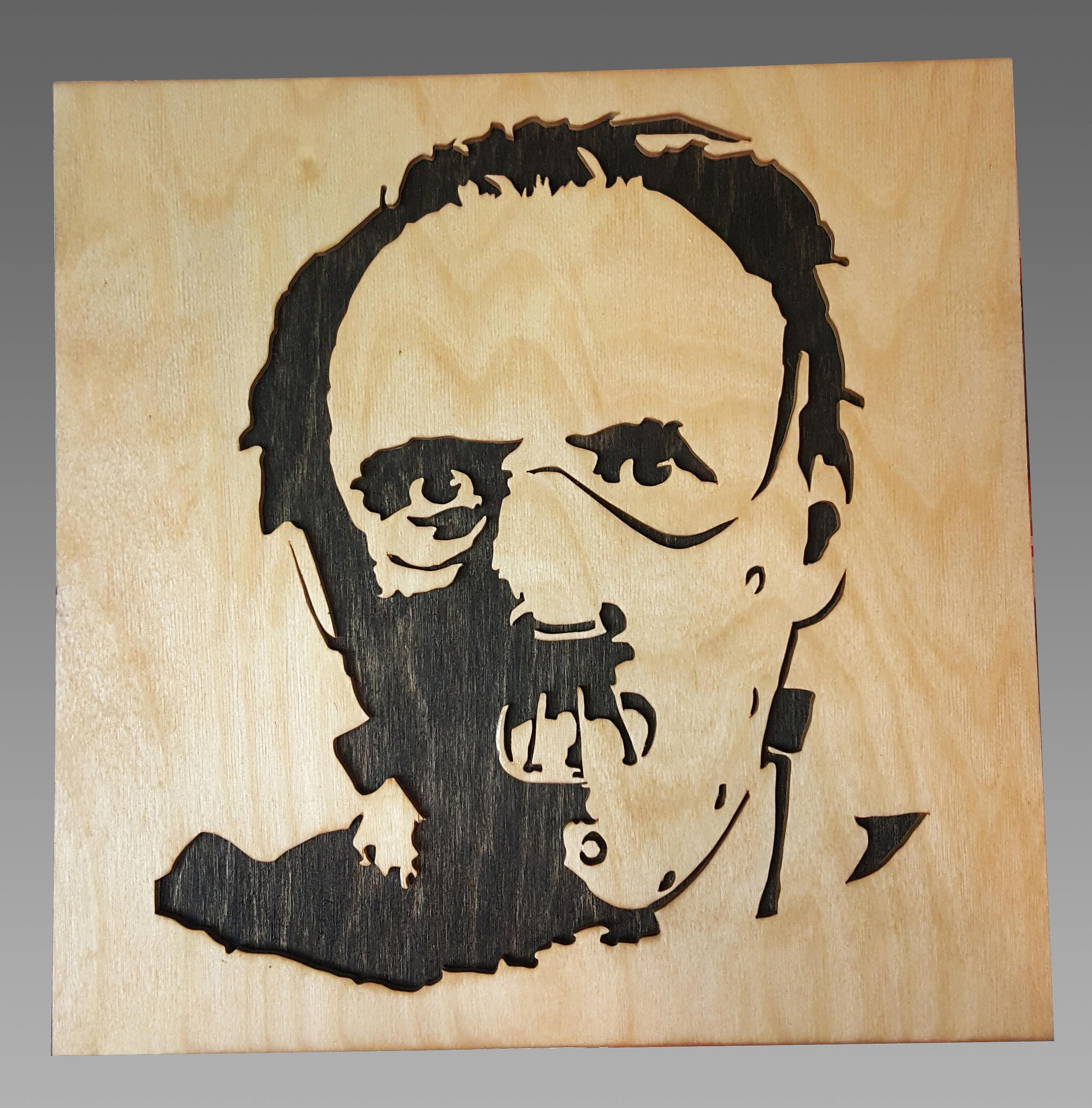 The Silence of the Lamb Hannibal Lecter Scroll Saw Art Wall | Etsy