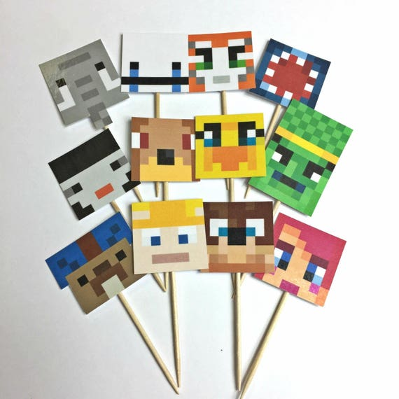 Print Today Stampy And Friends Cupcake Toppers Etsy