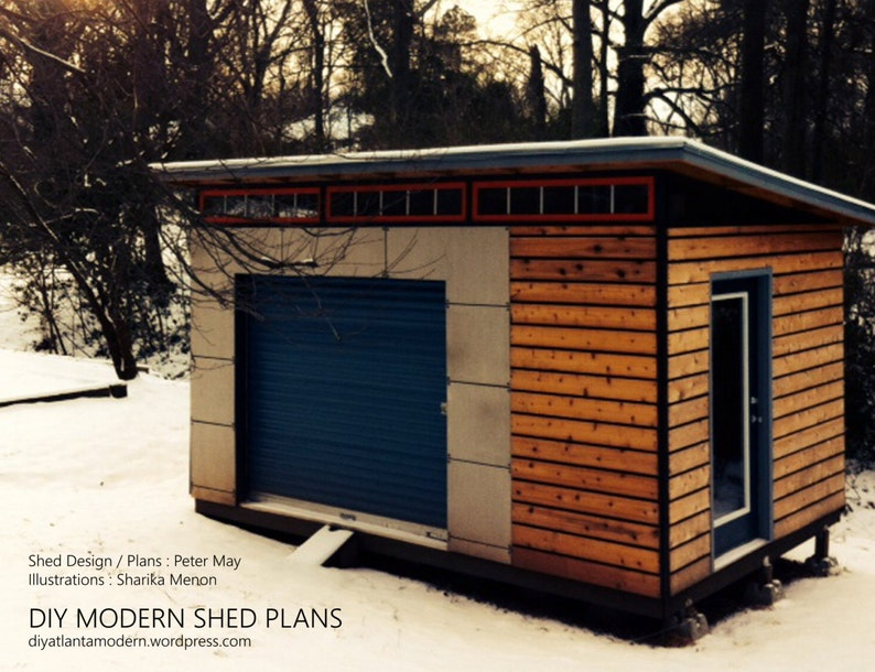 DIY Modern Shed Plans image 0