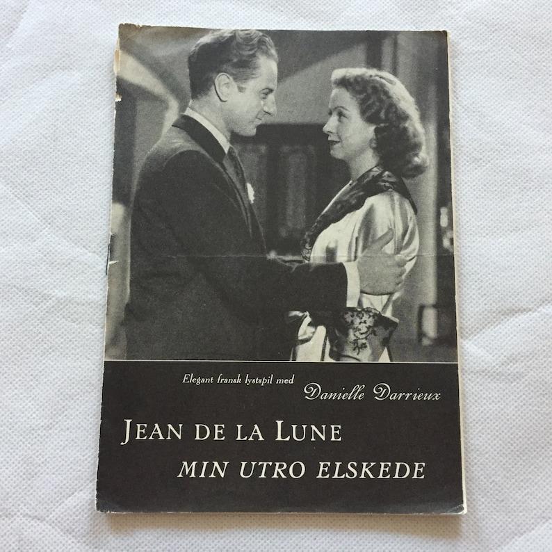 Jean de la Lune Danielle Darrieux Claude Dauphin Vintage 1949 Collectible  Memorabilia Danish Movie Theater Souvenir Original Programme
