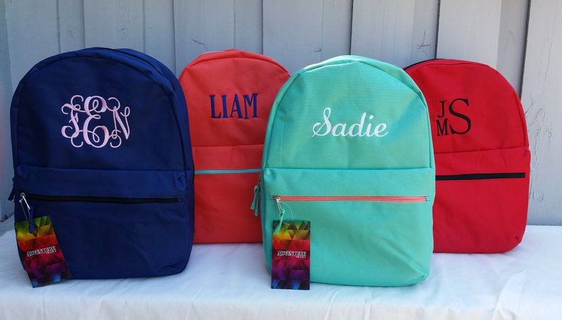 Personalized Backpack from First Fruit Crafts