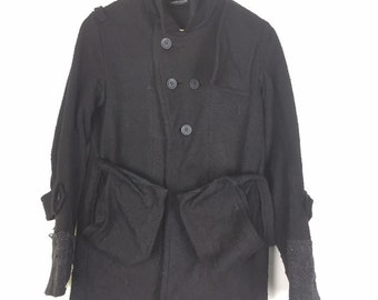 c1bc53ad8 Vintage 90s undercover art and craft tactical pocket jacket fleece  design made in japan