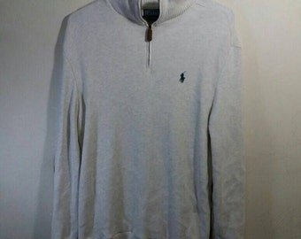 Vintage polo small pony sweatshirt with elbow leather sheep patch/grey/small/made in portugal