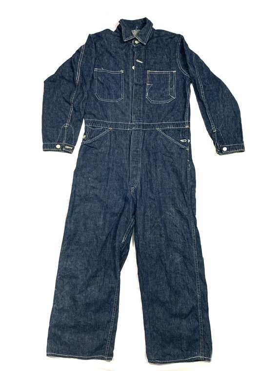 Vintage 40s coverall railroad denim /usa / true vi