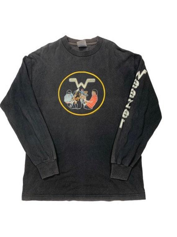 Vintage 90s Weezer rock band tees long sleeve/ med