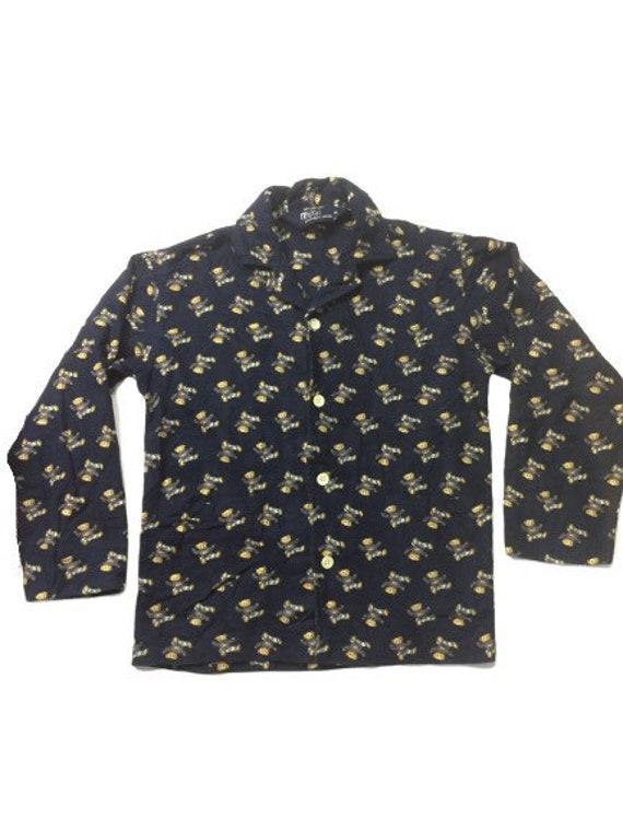 Vintage 90s Polo bear pyjamas set fullprint /mediu