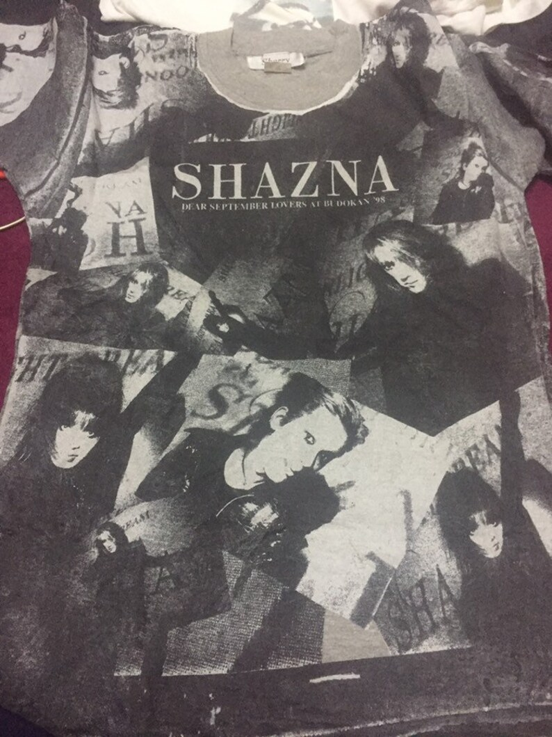 Vintage 90s Shazna japan rock band allover print  medium size