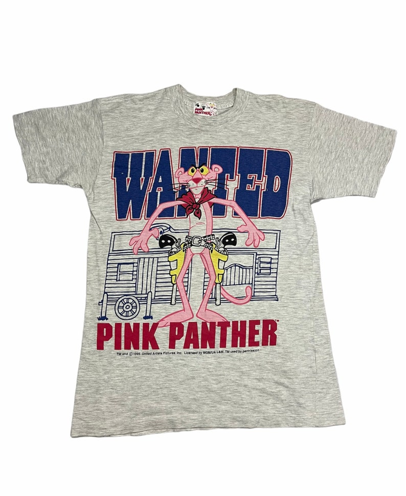 Vintage 90s Pink Panther cartoon tee M size