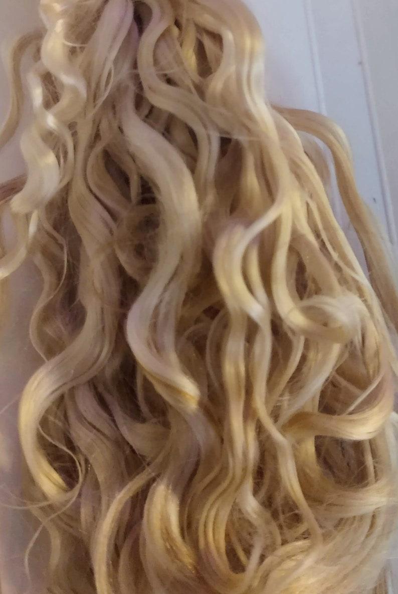"""PREMIUM MOHAIR Platinum Blonde  9/"""" Reborn 1//2Oz"""