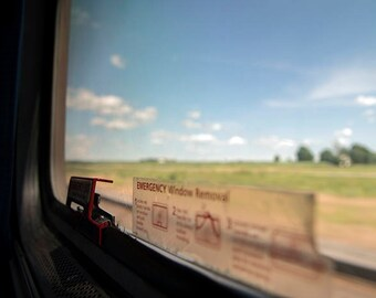 View From the Train - travel photograph - amtrak landscape wanderlust window