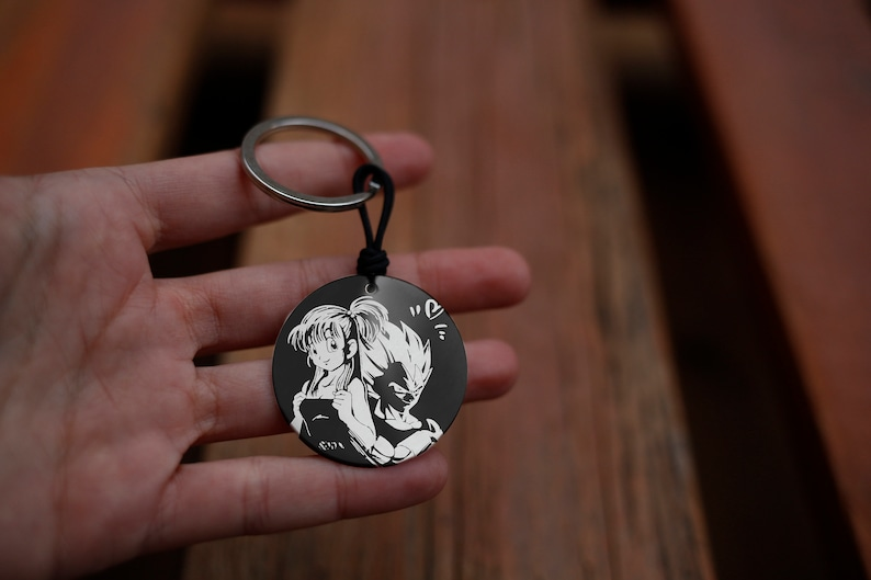 Vegeta keychain and customizable Bulma