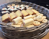 Cake tray, Large rattan serving oval tray, ideal for kitchen tea shop
