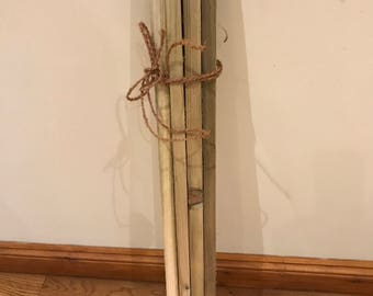 """10 offcut timber battens 36"""" long ideal for craft projects and making rustic wedding features etc"""