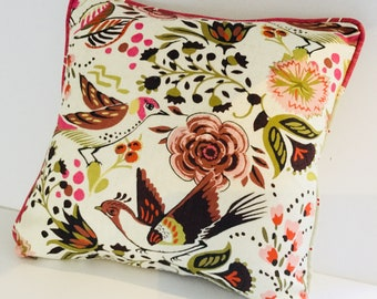 """Individual beautiful Monsoon fabric cushions with duck feather infil 16"""" x 16"""""""