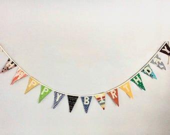 Birthday Banner Bunting celebration reusable decor