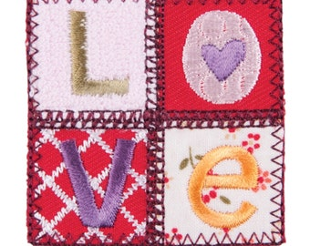 White Sequin Heart Motif Iron or Sew On Applique Patch Craft Factory CFM2//080