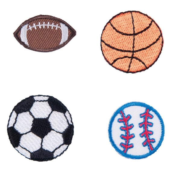 CFM1\002 each Craft Factory Iron or Sew On Fabric Motif Applique Sport