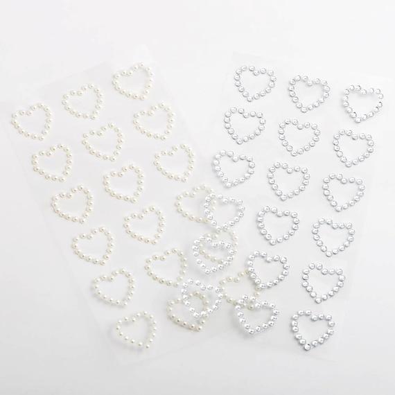 1.8cm Valentines Hearts Self Adhesive Stick On Craft Sticker Diamante//Pearl Gem