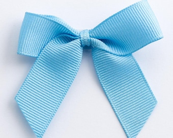 Pale Blue Self Adhesive 16mm Grosgrain Ribbon Pre Tied 5cm Bows