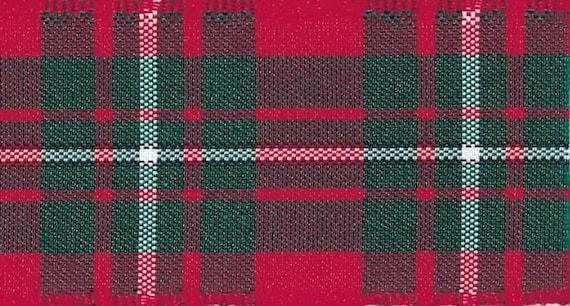 Sewing Cut Lengths Blackwatch Tartan Berisfords Woven Edge Ribbon Craft