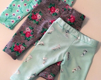 """Ankle or Capri Length Leggings Made to Fit Like American Girl Doll Clothes, 18"""" Doll Trendy, 14.5"""" Doll Clothes, 18"""" Doll Modern,"""