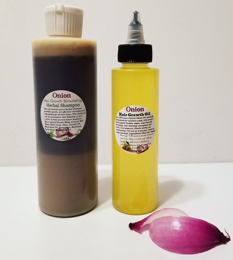 Organic Onion Hair Growth Oil & Shampoo Set