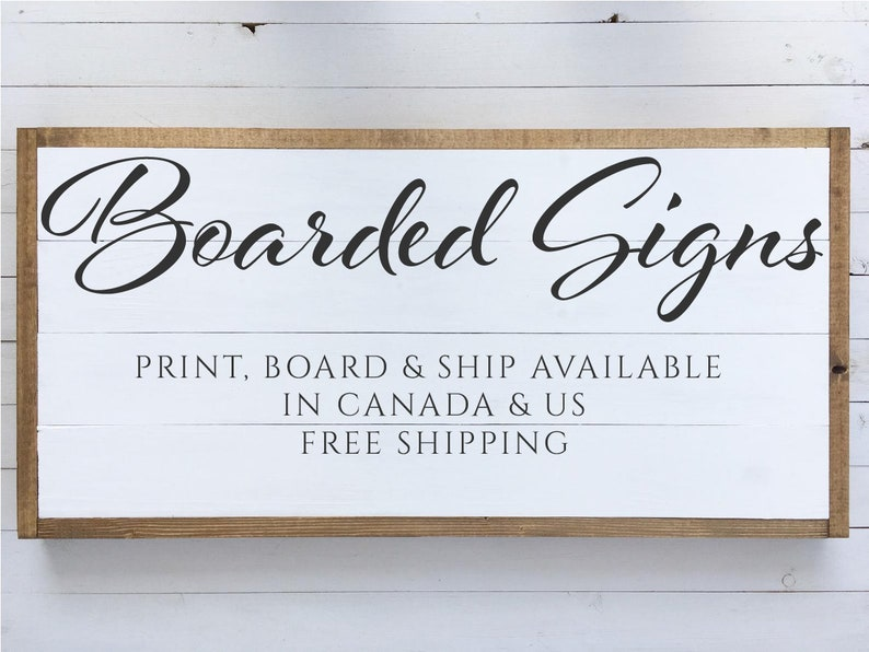 Foam Board  Welcome Signs  Canada & US Shipping image 0