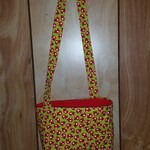 Cute quilted girls cross chest purse fun for girls pretty lady bug bag with zipper pocket