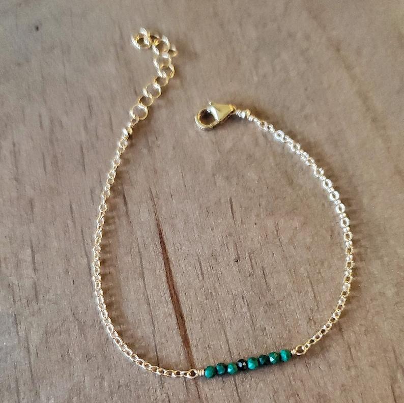 Malachite Bar Bracelet