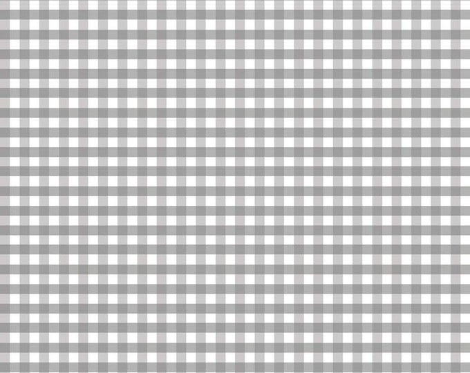 1/4 Medium Gingham Check Gray Fabric by Riley Blake Designs