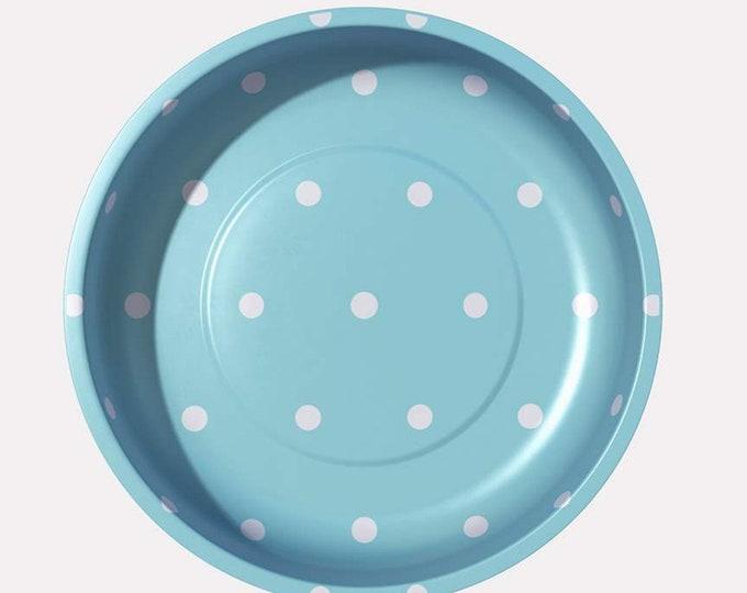 Pleasant Home Polka Dot Magnetic Pin Bowl Aqua