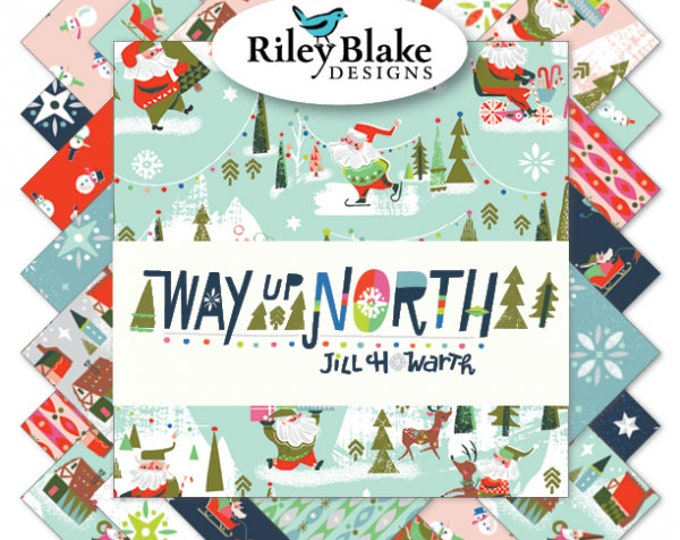 Way Up North 2.5 Inch Rolie Polie Bundle by Jill Howarth for Riley Blake Designs - 40 Pieces