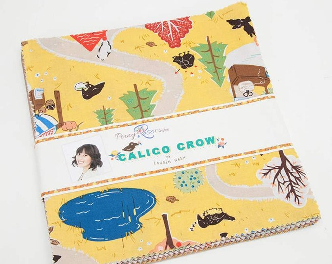 "Calico Crow 10"" Stacker by Lauren Nash for Penny Rose Fabrics - 42 Pieces"