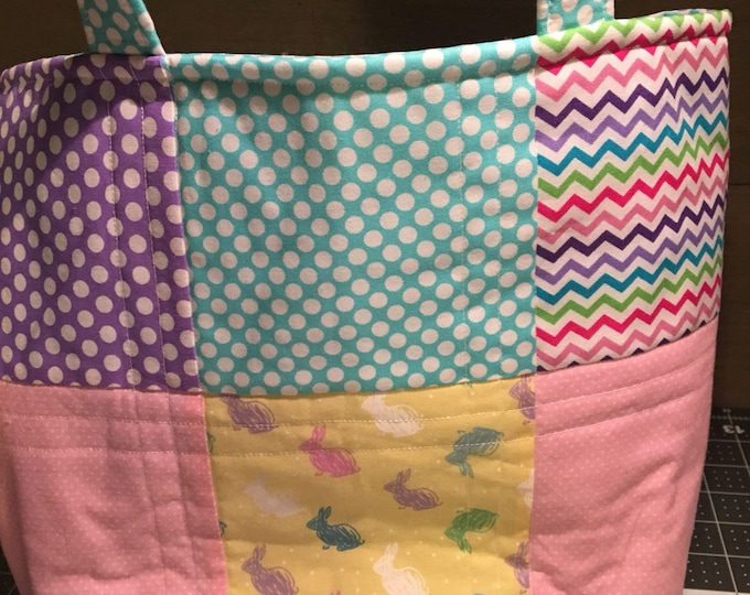 Easter Bag, Easter Tote, Quilted Bag, Handmade Bag, Handmade Tote, Bag, Quilted Tote, Homemade Bag, Homemade Tote, Lined Bag, Lined Tote