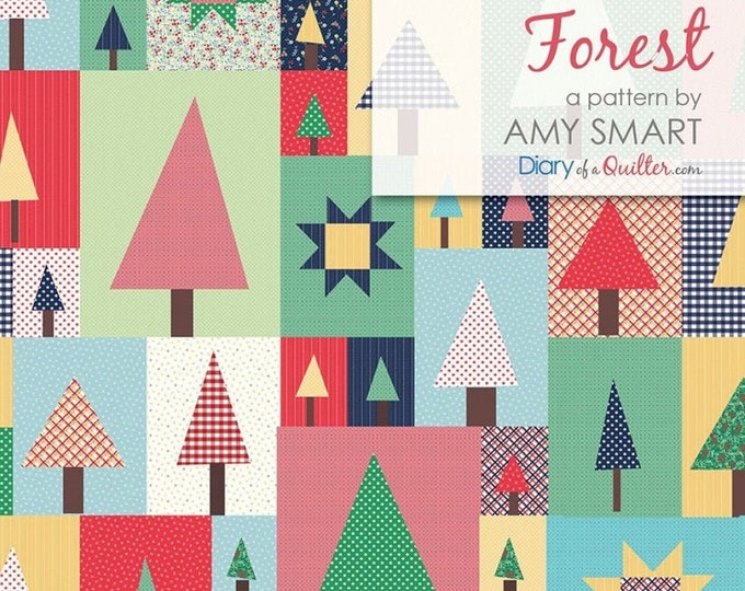 Pine Hollow Patchwork Forest Quilt Pattern by Amy Smart for Riley Blake Designs