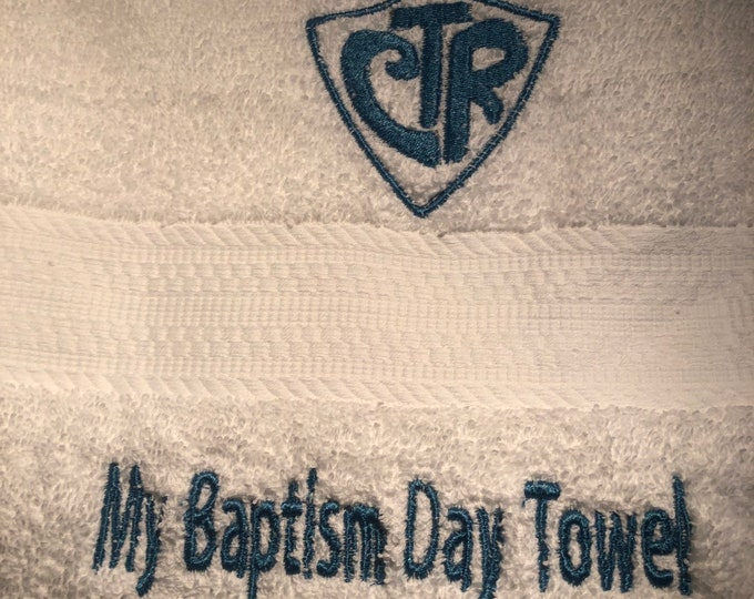 LDS My Baptism Day Towel