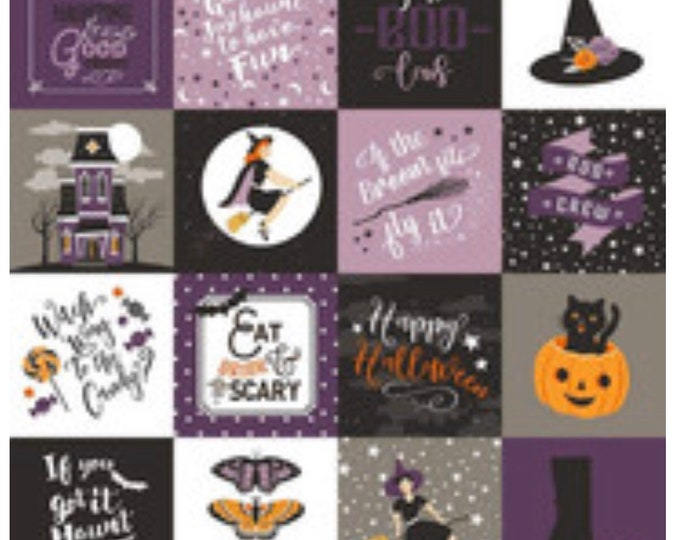 Fab-boo-lous Main Purple Fabric by Dan Mogstad for Riley Blake Designs