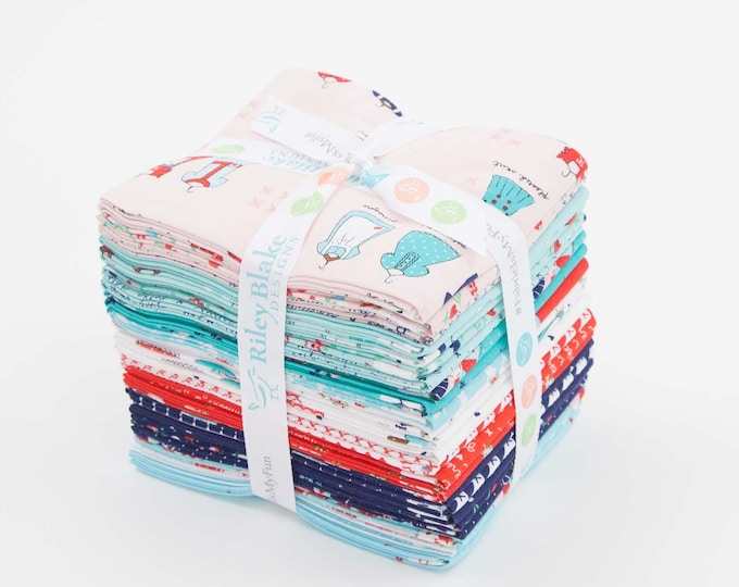 A Little Sweetness Fat Quarter Bundle by Tasha Noel for Riley Blake Designs - 24 Pieces