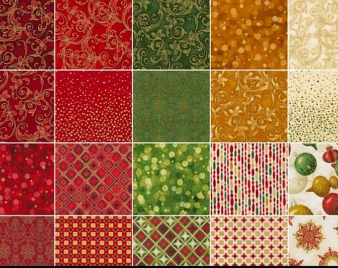 Winter's Grandeur Fat Quarter Bundle by Robert Kaufman - 21 Pieces