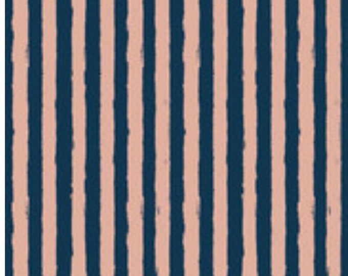 Blush Stripe Blue Sparkle Fabric by My Minds Eye for Riley Blake Designs