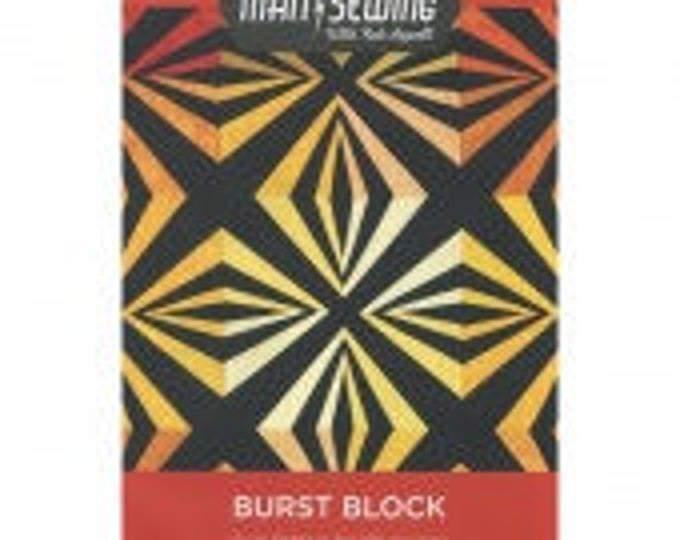 Man Sewing Burst Block Quilt Pattern by Rob Appell for MSQC