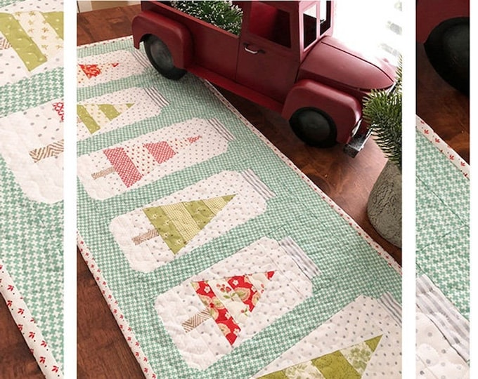 Christmas Jars Table Runner Pattern by Margot Languedoc for The Pattern Basket
