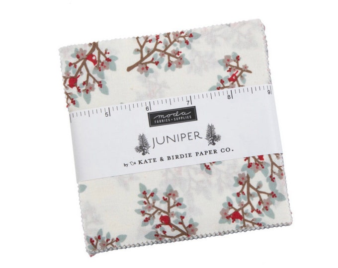 """Juniper  5"""" Charm Pack by Kate & Birdie Paper Co for Moda - 42 Pieces"""