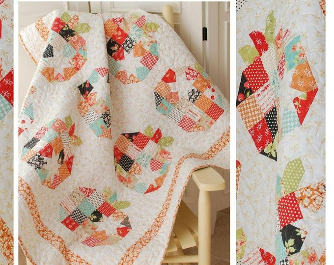 Pumpkin Seeds Quilt Pattern by Margot Languedoc for The Pattern Basket