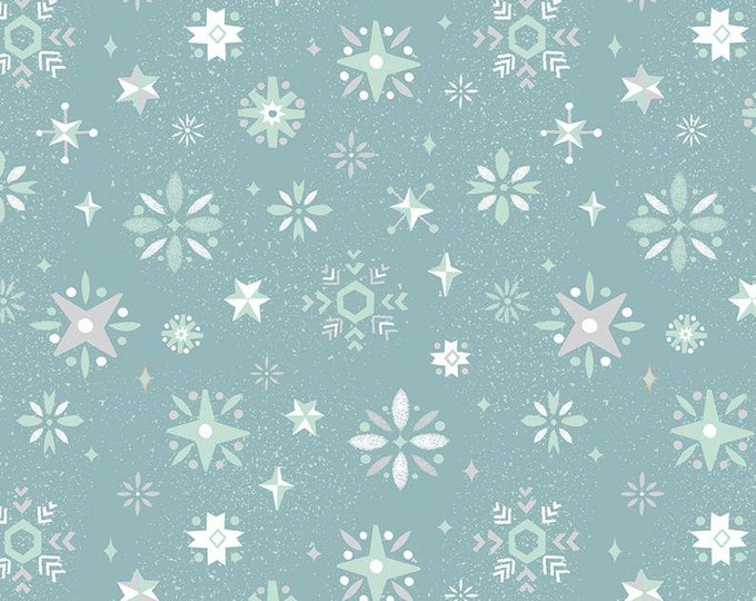 Way Up North Snowflake Blue by Jill Howarth for Riley Blake Designs