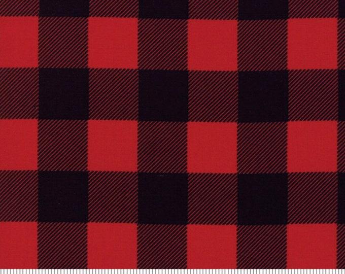 Moda Buffalo Check Cotton Fabric Black and Red