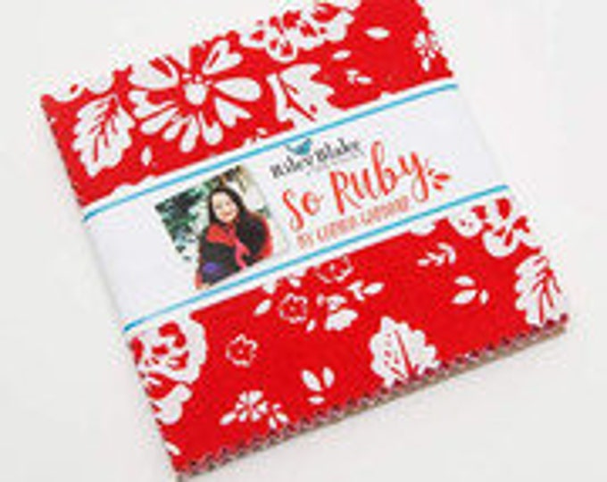 "So Ruby 5"" Stacker by Carina Gardner for Riley Blake Designs - 42 Pieces"